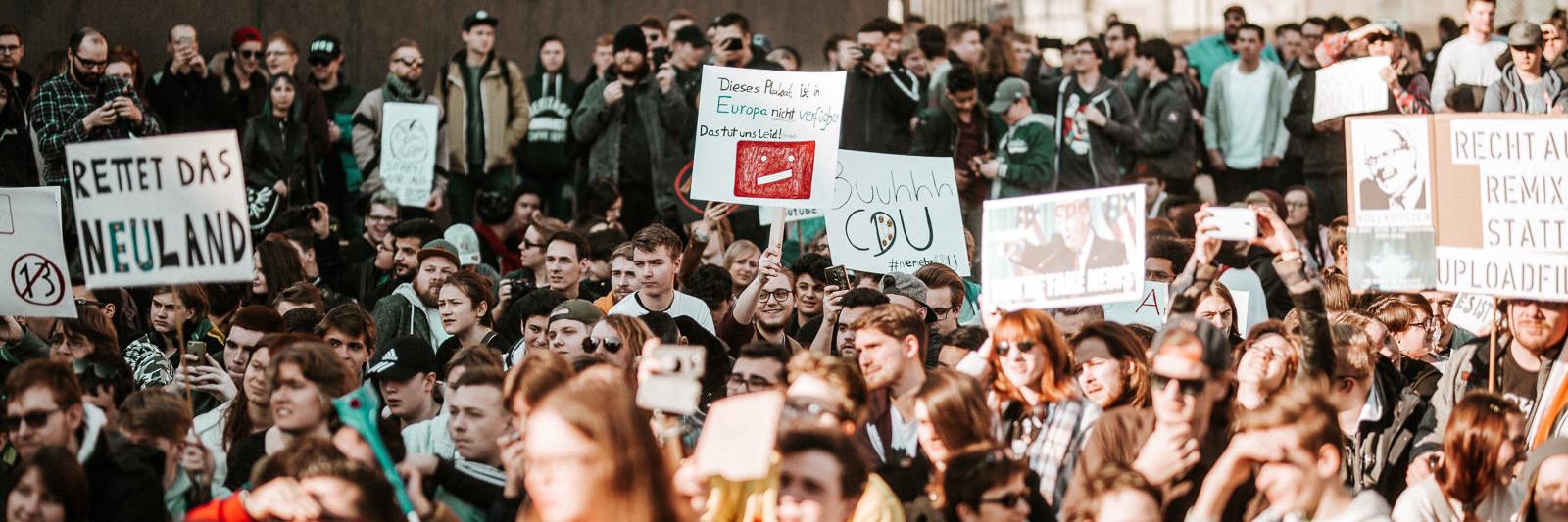Demonstration für ein freies Internet